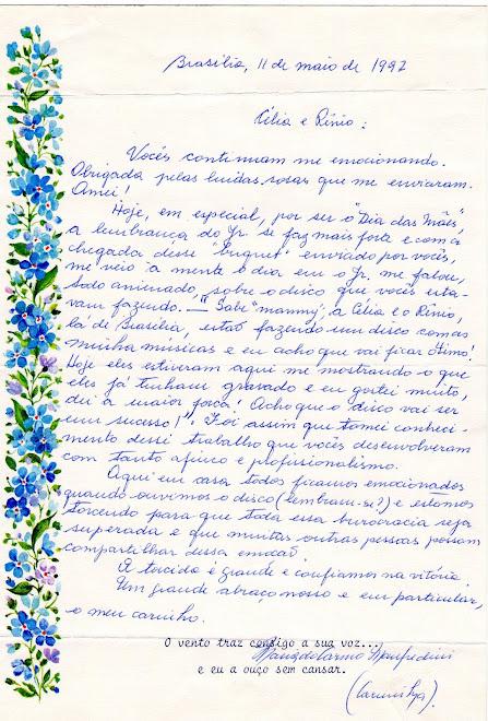 Carta de D. Carminha Manfredini
