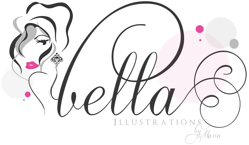 Beauty Boutique Couture Fashion Salon Illustration & Web Design, Bella Illustrations