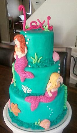 Mermaids Utah Childrens Birthday Cakes