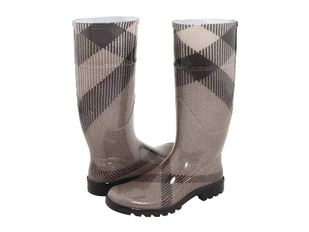 Burberry Rain Boots in Smoked Check - 5
