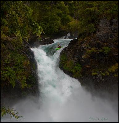 WhereIsBaer.com Chris Baer Argenrtina Alerces waterfall patagonia kayak whitewater