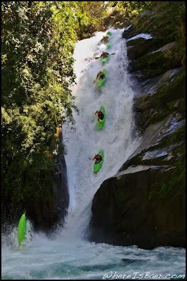 Chris Baer Costa rica water fall kayak green blue water slide rock crazy WhereIsBaer.com Chris Baer