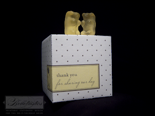 wedding favor box template printable diy