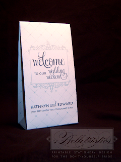wedding weekend printable gable box