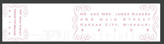 wrap around address label custom wedding invitation