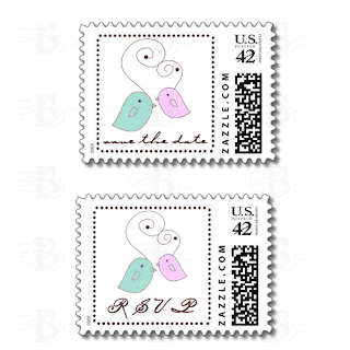 wedding postage stamp lovebirds rsvp save the date zazzle