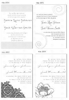 wedding invitation design template vintage floral stripes