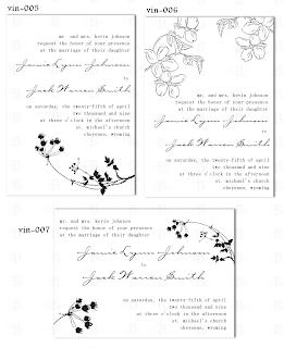 vintage floral wedding invitation design template