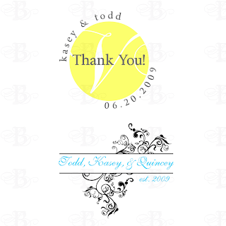 wedding monogram logo design yellow grey gray