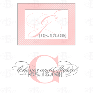 new wedding monogram logo design