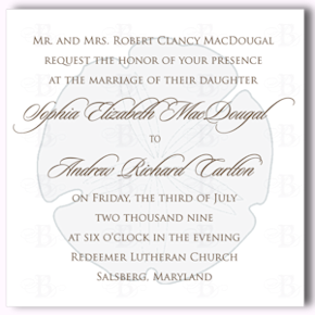 sand dollar wedding invitation