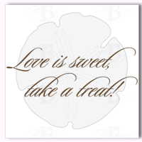 love is sweet favor tag label