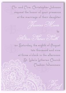 vintage lace wedding invitation design