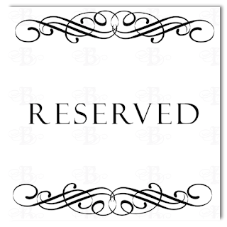 Belletristics stationery design and inspiration for the for Reserved seating signs template