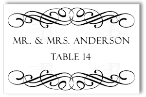 flourish place card design