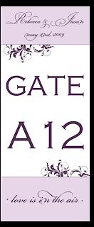 table number card design purple flourish