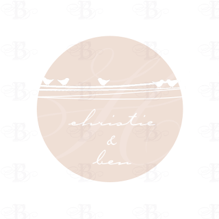 wedding monogram logo design pink