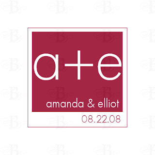 modern wedding logo design