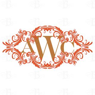 wedding monogram logo crest design