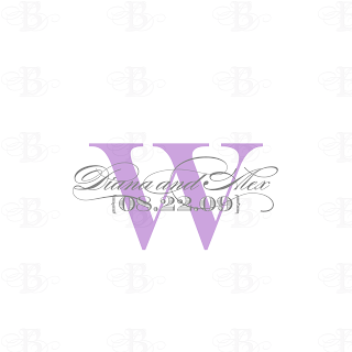 wedding monogram design purple