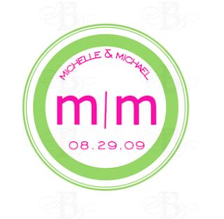 custom modern monogram design