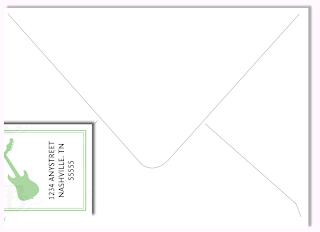 custom address label wedding invitation design