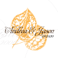 fall leaf theme monogram