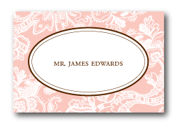 custom vintage lace calligraphy wedding escort card design