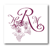 custom grape vineyard wedding monogram design
