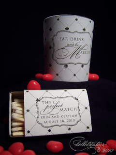 diy printable votive matchbook wraps