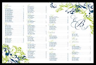 custom printable wedding seating chart floral flourish