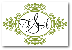 custom wedding logo floral flourish monogram