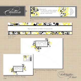 elegant couture floral diy printable wedding invitation design suite