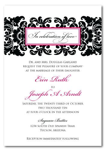 diy custom damask wedding invitation design - Damask Wedding Invitations