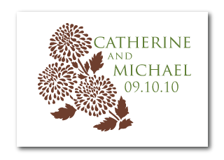 custom fall wedding logo design