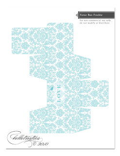 free download print love birds damask favor box template
