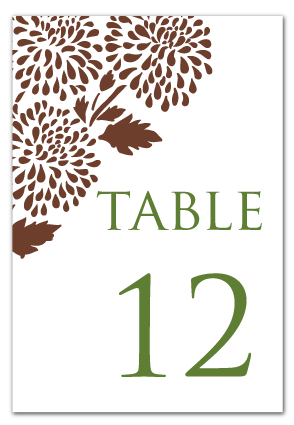custom mum themed table number design