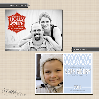 belletristics 2010 holiday photo card digital printable design templates