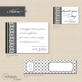 adore damask lace printable DIY wedding stationery design suite