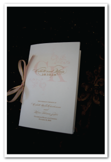 custom ceremony program