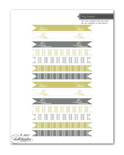 free printable cupcake drink flags