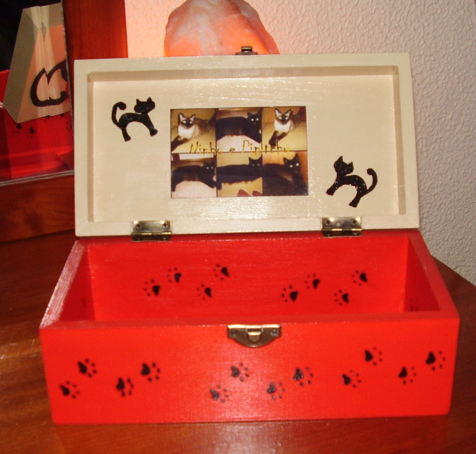 Caixa Personalizada com a Foto dos 2 Amigos de 4 Patas da Lilian Silva  #B81C13 1552x1478