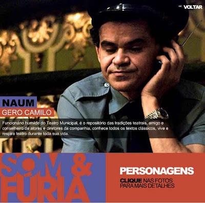 Gero Camilo como Naum, o porteiro - ©2009 Globo - Todos os direitos reservados