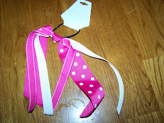 Pink and White Ponytail Streamer