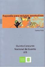 """Portada libro de cuentos """"Rapsodia para reclutas asustadizos"""""""