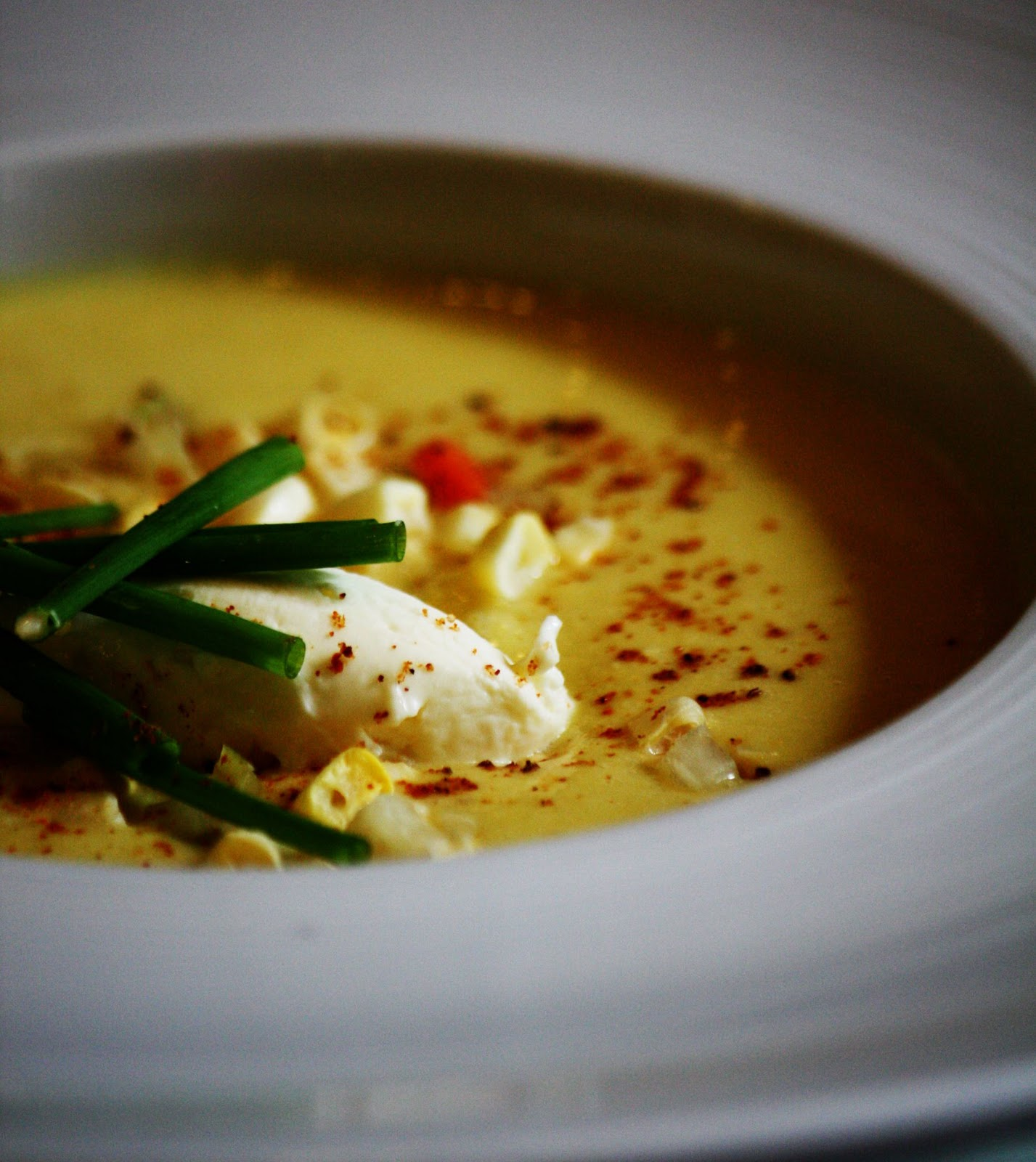 Chilled Corn Soup, Garlic Custard, Shrimp, And Promises Of Summer ...