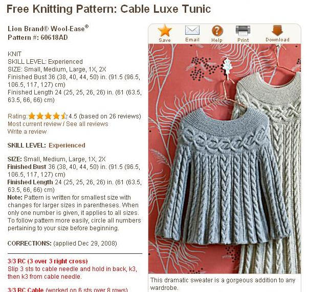 Knitting Pattern Of The Day : LazyTcrochet: An Inspirational Pattern - Knit and Crochet ...
