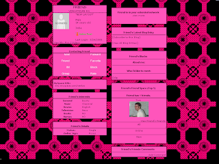 Pink and Black Skinny Myspace Layouts