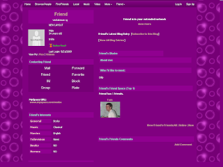 Purple Default Myspace Layouts