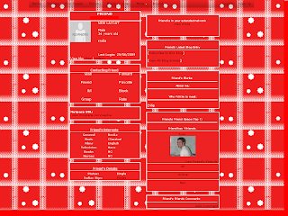 Red and White Skinny Myspace Layouts